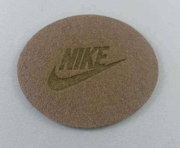 felt  laser marked the the Nike logo